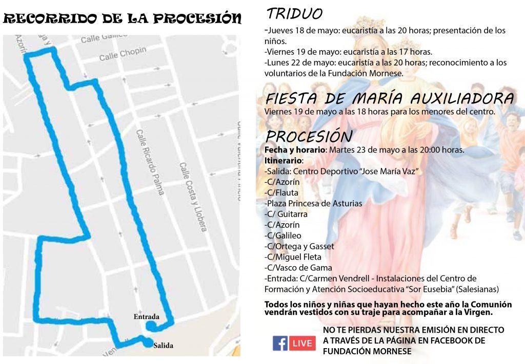 Diptico Semana Maria Auxiliadora 2017-2