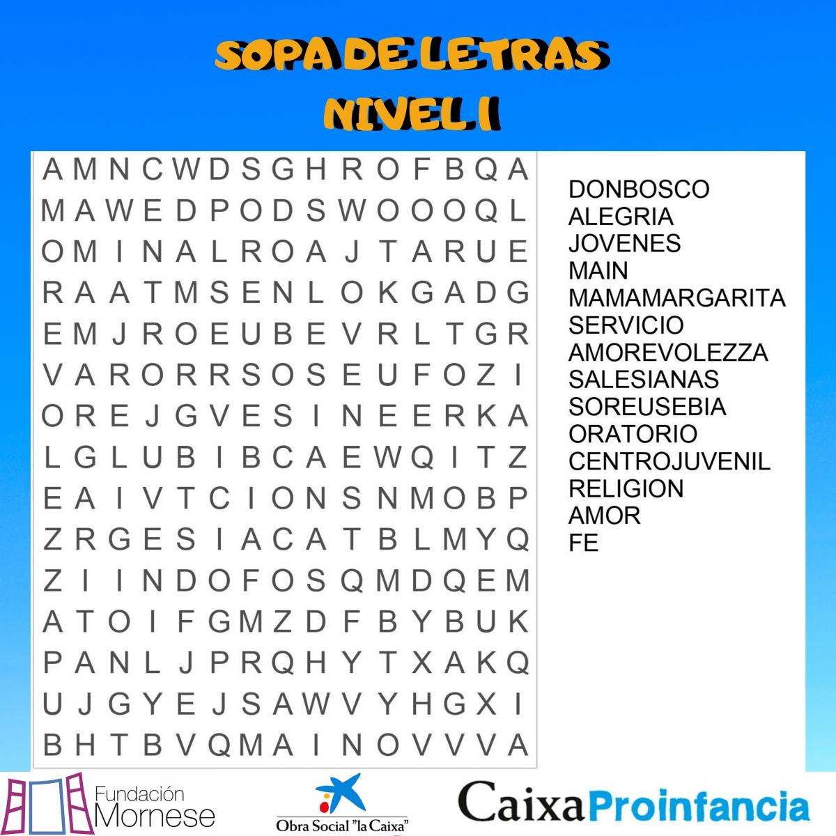 SOPA DE LETRAS 1